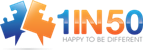 http://1in50.net/ Logo